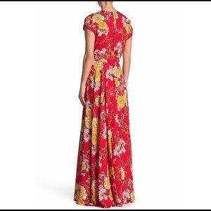 Meghan LA Dresses - NEW MEGHAN LA red floral Jasmine maxi dress $425